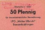 Deutschland 50 Pfennig DDR LPG-Geld