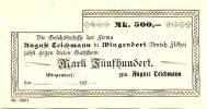 Sachsen 500 Mark Wingendorf, August Teichmann