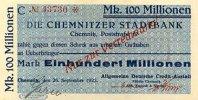 Sachsen 100 Mio.Mark 26.September Chemnitz, ADCA auf Stadtbank