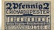 Sachsen 2 Pfennig Chemnitz, C.Richard Pester Kreuz-Drogerie