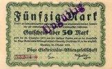 Sachsen 50 Mark 26.Oktober Chemnitz, Pöge Elektricitäts-AG.