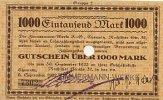 Sachsen 1000 Mark 8.September Chemnitz, Zimmermann-Werke A.G.