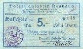 Thüringen 5 Mark November Neuhaus