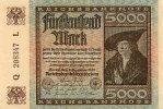 Deutsches Reich 5000 Mark 2.Dezember Ro.80a, FZ L