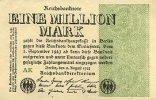 Deutsches Reich 1 Mio.Mark 9.August Ro.101a, FZ AK