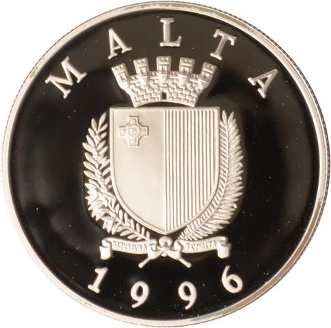 5 Liri 1996 Malta Malta, 5 Liri, Wasserball, 1996, PP PP