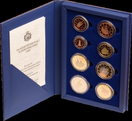 1 Cent - 2 Euro 2009 San Marino PP-Kursmünzensatz 2009 PP