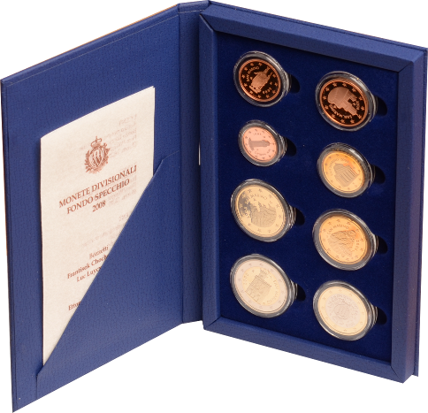 1 Cent - 2 Euro 2008 San Marino PP-Kursmünzensatz 2008 PP