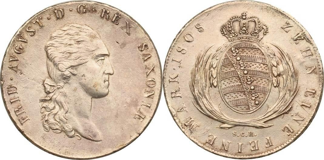 Taler 1808 Sachsen Sachsen, Konventionstaler, Friedrich August vz