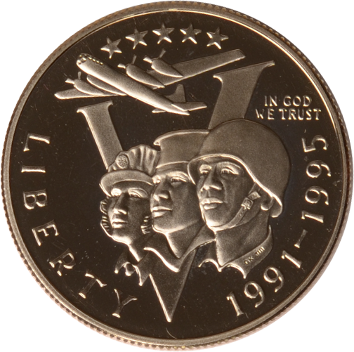 Half Dollar 1993 P USA USA 50. Jahrestag des Zweiten Weltkrieges, PP PP