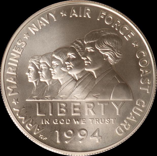 1 Dollar 1994 USA USA Gedenkstätte für Frauen im Wehrdienst, 1994, st st