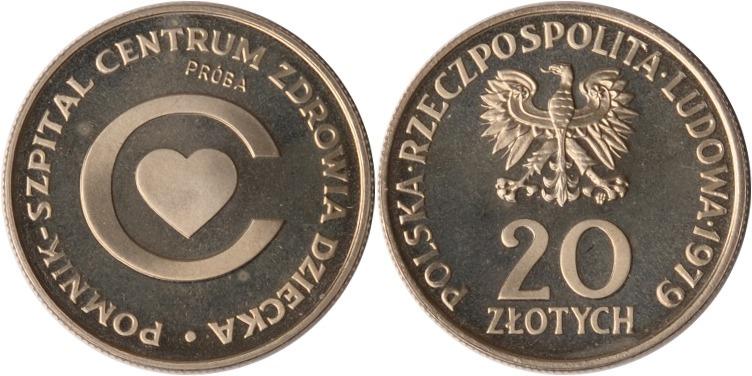 20 Zlotych 1979 Polen Polen, 20 Zlotych, Kindergesundheitszentrum Probe, 1979, PP PP (Probe)