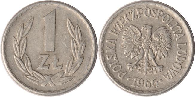 1 Zloty 1966 Polen Polen, 1 Zloty, 1966, ss/vz ss/vz