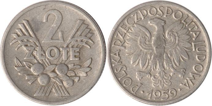 2 Zlote 1959 Polen Polen, 2 Zlote, 1959, ss ss