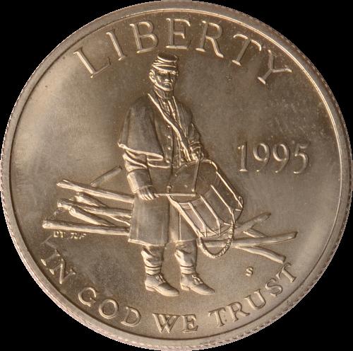 Half Dollar 1995 USA USA Nationale Bürgerkriegsgedenkstätte Gettysburg, 1995, st st