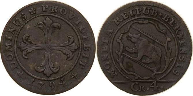4 Kreuzer 1794 Schweiz - Bern Schweiz, Bern, 4 Kreuzer, 1794, ss/vz ss/vz