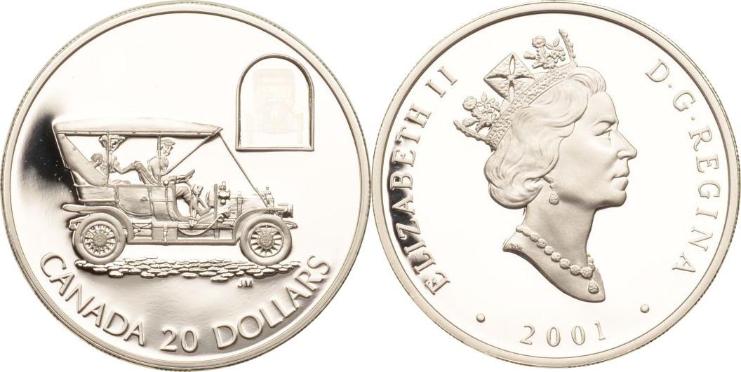 20 Dollars 2001 Kanada Kanada, 20 Dollars, Russel Model L, 2001, PP inkl. Etui und Zertifikat PP