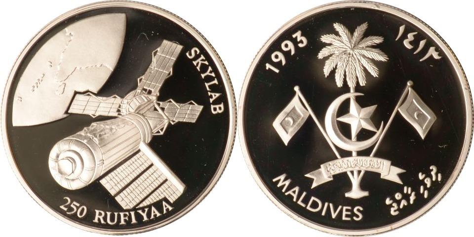 250 Rufiyaa 1993 Malediven Malediven, 250 Rufiyaa, Skylab, 1993, PP PP