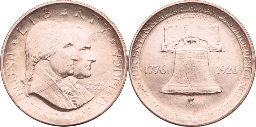 Half Dollar 1926 USA 150. Jahrestag der Unabhängigkeitserklärung vz/st