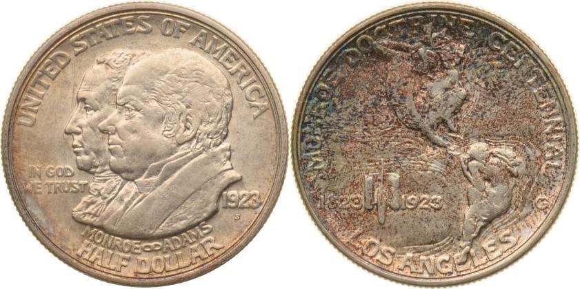 Half Dollar 1923 USA USA, Half Dollar, Monroe Doctrin Centennial, 1923, vz+ vz+