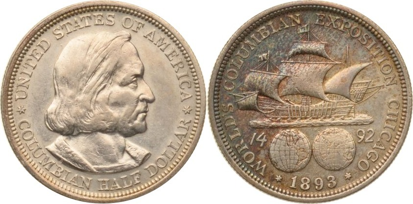 Half Dollar 1893 USA USA, Half Dollar, Columbia Exposition, 1893, vz+ vz+