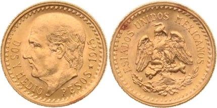 2,5 Pesos 1945 Mexiko st