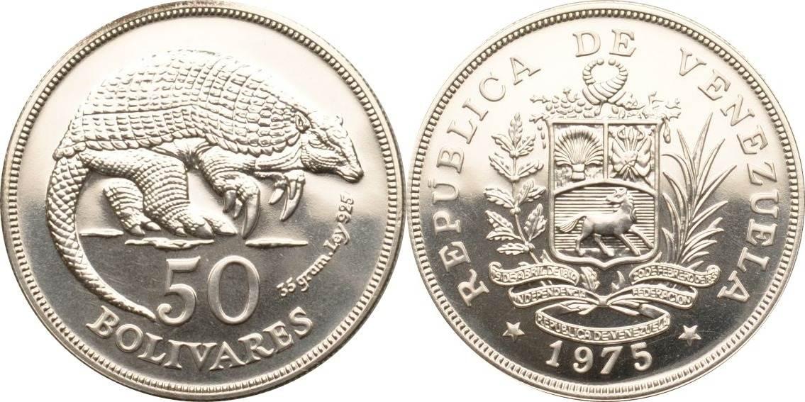 50 Bolivares 1975 Venezuela Riesengürteltier st