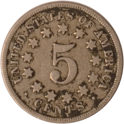 5 Cents 1868 USA Nickel 1868 ss