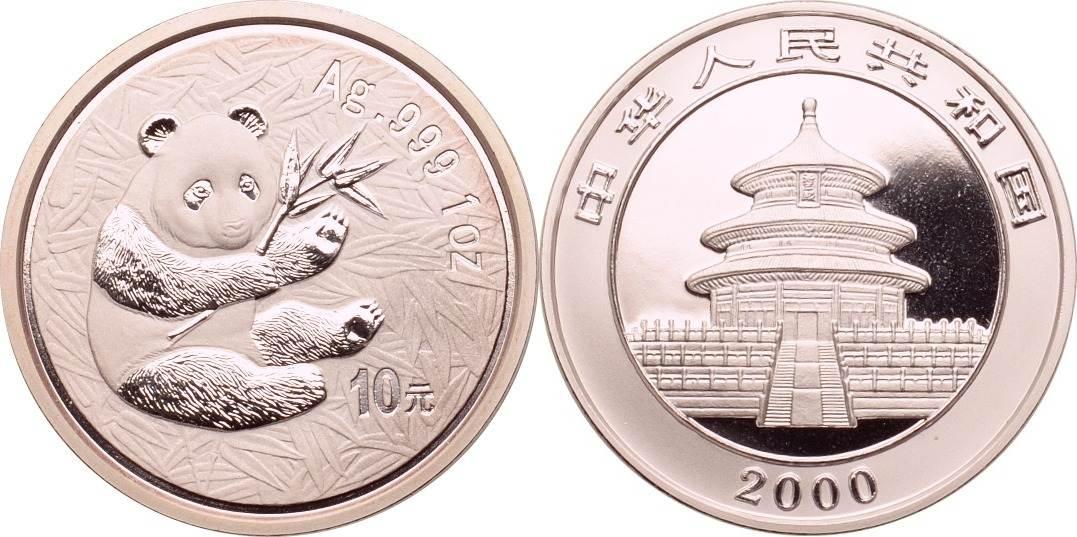 10 Yuan 2000 China Panda st
