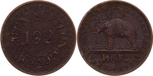 1/92 Rixdollar 1802 Ceylon ss