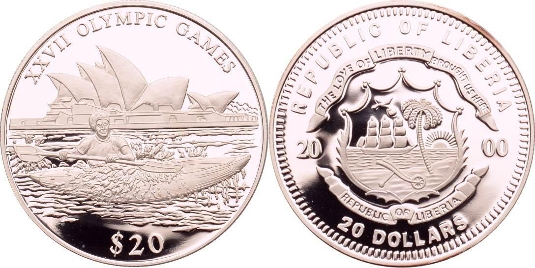 20 Dollars 2000 Liberia Kajak PP