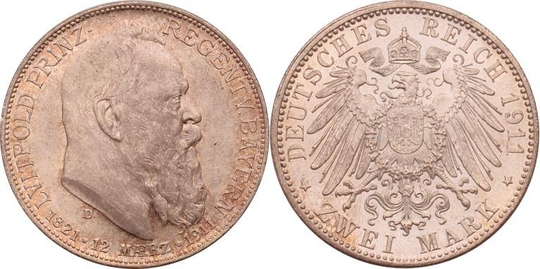 2 Mark 1911 Kaiserreich - Bayern Luitpold st