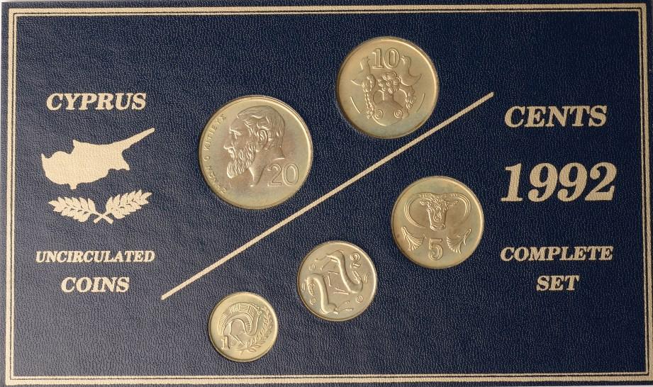 1992 Zypern Zypern Kursmünzensatz 1992 in st st