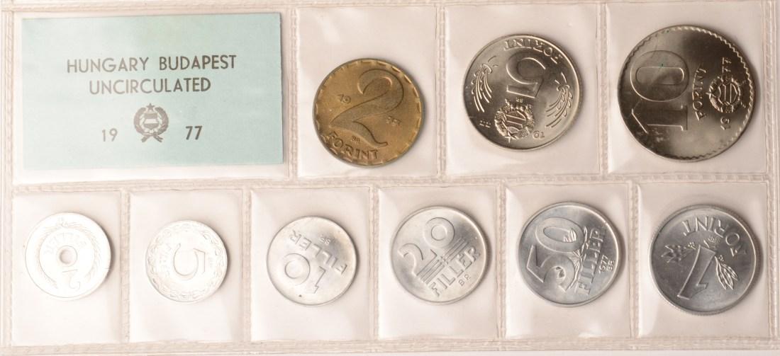 1977 Ungarn Ungarn Kursmünzensatz 1977, st st