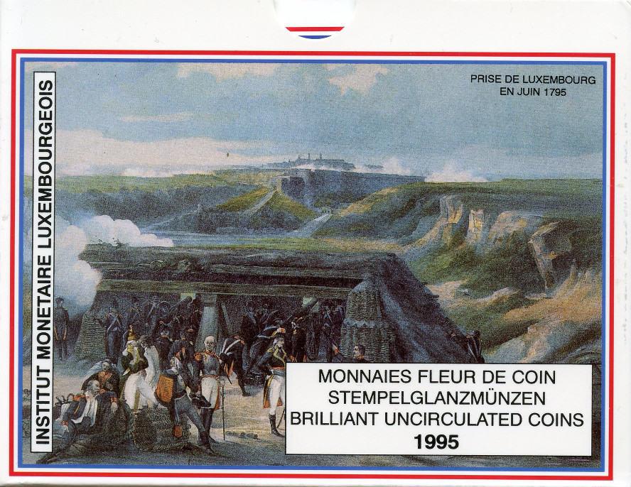1 Franc - 50 Francs 1995 Luxemburg Luxemburg, KMS 1995, st st