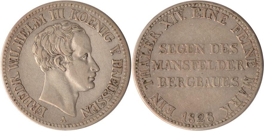 Ausbeutetaler 1828 A Brandenburg-Preussen Preussen, Ausbeutetaler, Friedrich Wilhelm III., 1828 A, ss/vz ss/vz