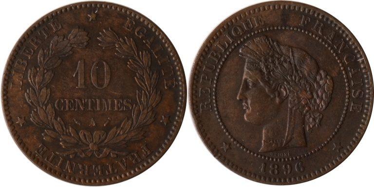 10 Centimes 1896 Frankreich Frankreich, 10 Centimes, 1896, ss/vz ss/vz
