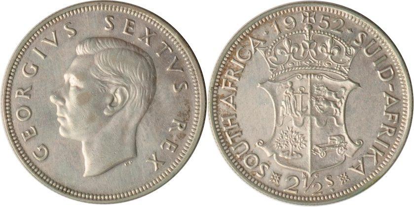 2 1/2 Shillings 1952 Südafrika Südafrika, 2 1/2 Shillings, 1952, vz vz