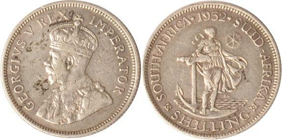 1 Shilling 1932 Südafrika Südafrika, 1 Shilling, 1932, George V., ss+ ss+