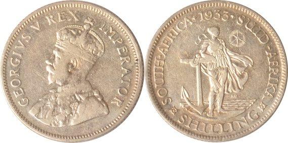 1 Shilling 1933 Südafrika Südafrika, 1 Shilling, 1933, George V., ss/vz ss/vz