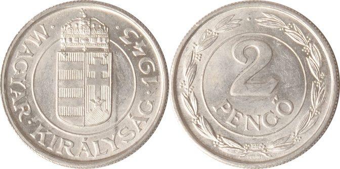2 Pengö 1943 Ungarn Ungarn, 2 Pengö, 1943, vz/st vz/st