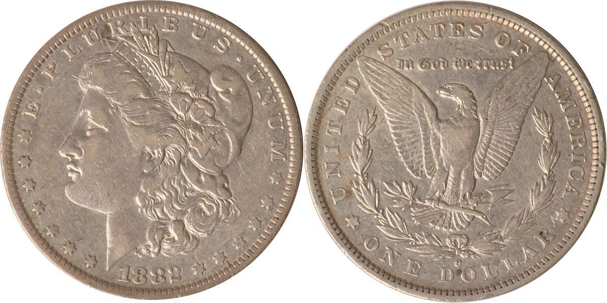 1 Dollar 1882 O USA USA, 1 Dollar, Morgandollar, 1882 O (Orlando), ss/vz ss/vz