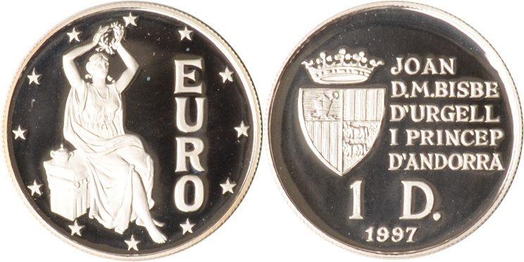 1 Diner 1997 Andorra Andorra, 1 Diner, Europa, 1997, PP PP
