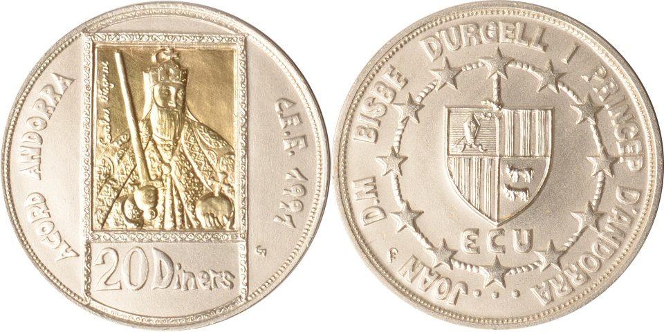 20 Diners 1992 Andorra Andorra, 20 Diners, Karl der Große, 1992, st st