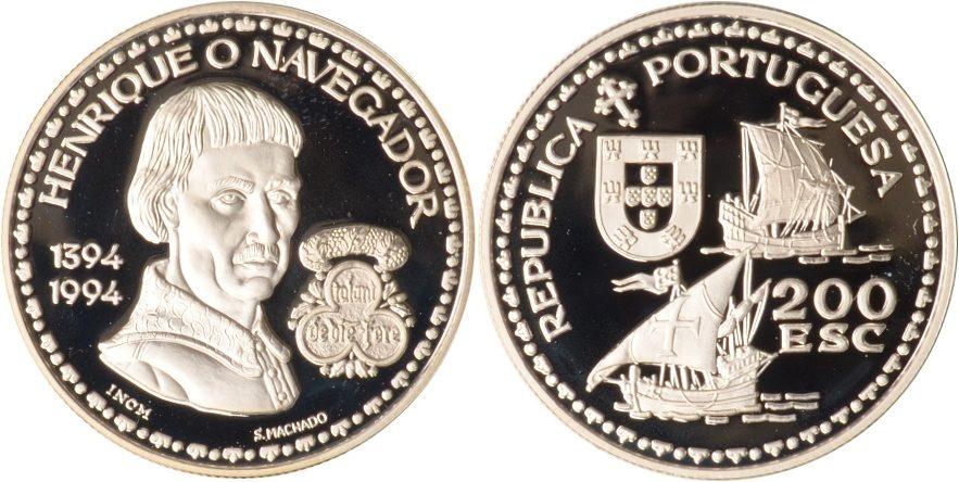 200 Escudos 1994 Portugal Portugal, 200 Escudos, Heinrich der Seefahrer, 1994, PP PP