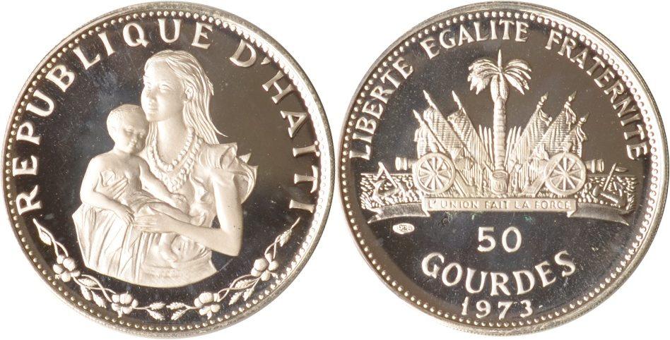 50 Gourdes 1973 Haiti Haiti, 50 Gourdes, Mutter mit Kind, 1973, PP PP