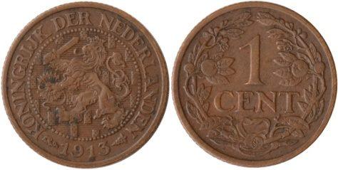 1 Cent 1913 Niederlande Niederlande, 1 Cent, Wappenlöwe, 1913, ss/vz ss/vz