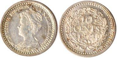10 Cents 1921 Niederlande Niederlande, 10 Cents, Wilhelmina, 1921, st st