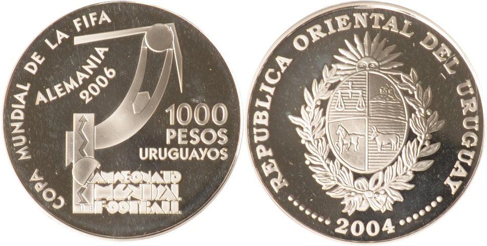 1000 Peos Uruguayos 2004 Uruguay Uruguay, 1000 pesos Uruguayos, Torwart, 2004, PP PP