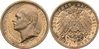Kaiserreich - Hessen 3 Mark Hessen, 3 Mark, Regierungsjubiläum Ernst Ludwig, 1917, fast st aus PP